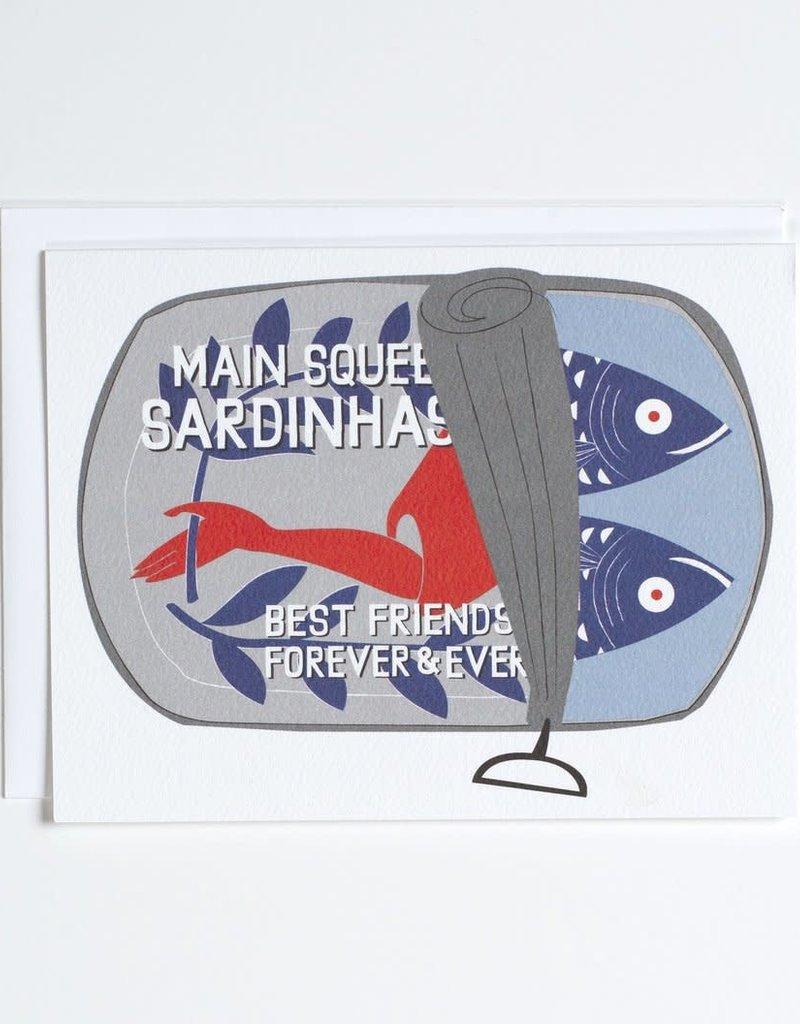 Banquet Atelier & Workshop Best Friends Sardine Can - Note Card