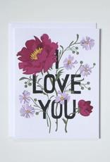 Banquet Atelier & Workshop I Love You Bouquet - Note Card
