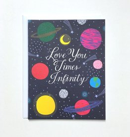 Banquet Atelier & Workshop Love You Times Infinity - Note Card