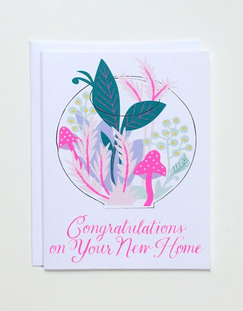 Banquet Atelier & Workshop Congratulations on your New Home Terrarium - Note Card