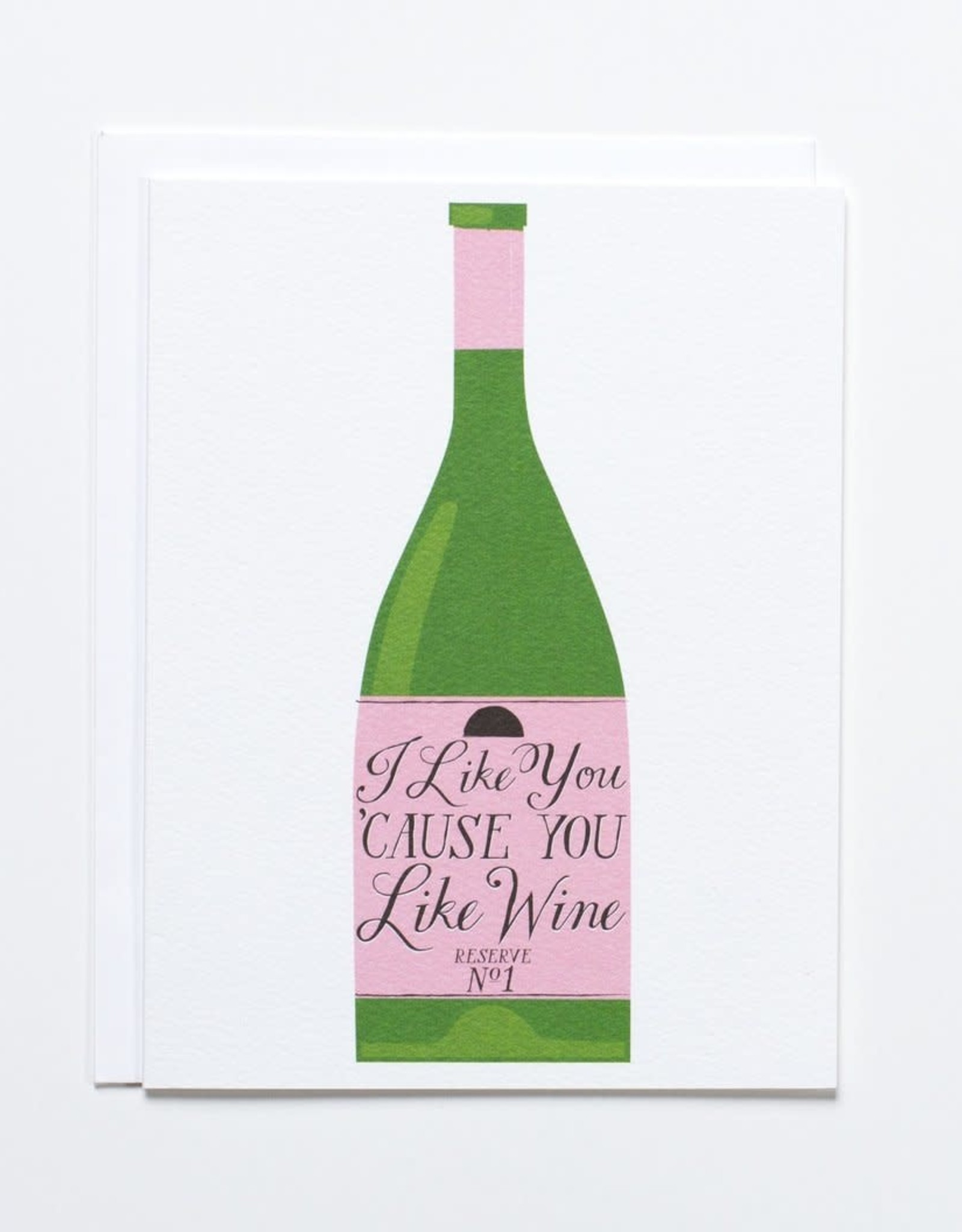Banquet Atelier & Workshop I Like You 'Cause You Like Wine - Note Card
