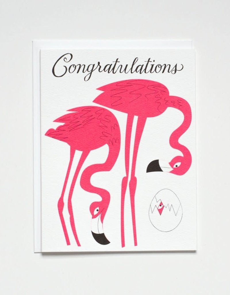 Banquet Atelier & Workshop Flamingo Congratulations - Note Card