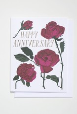 Banquet Atelier & Workshop Happy Anniversary Roses - Note Card