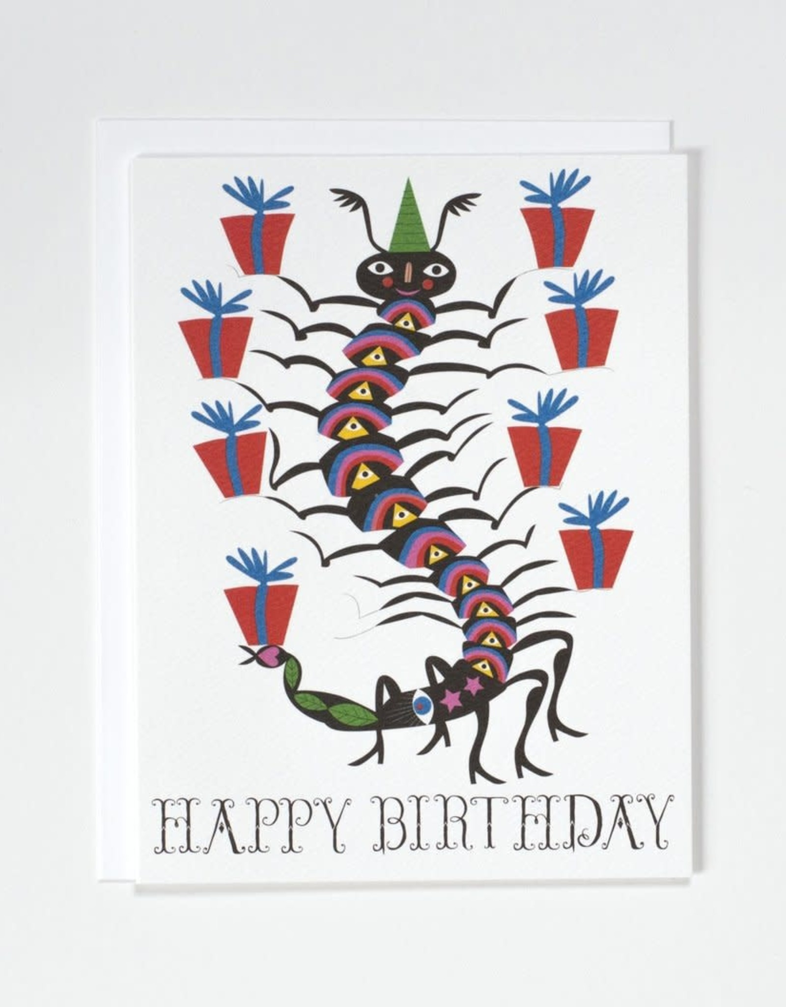 Banquet Atelier & Workshop Centipede Happy Birthday - Note Card