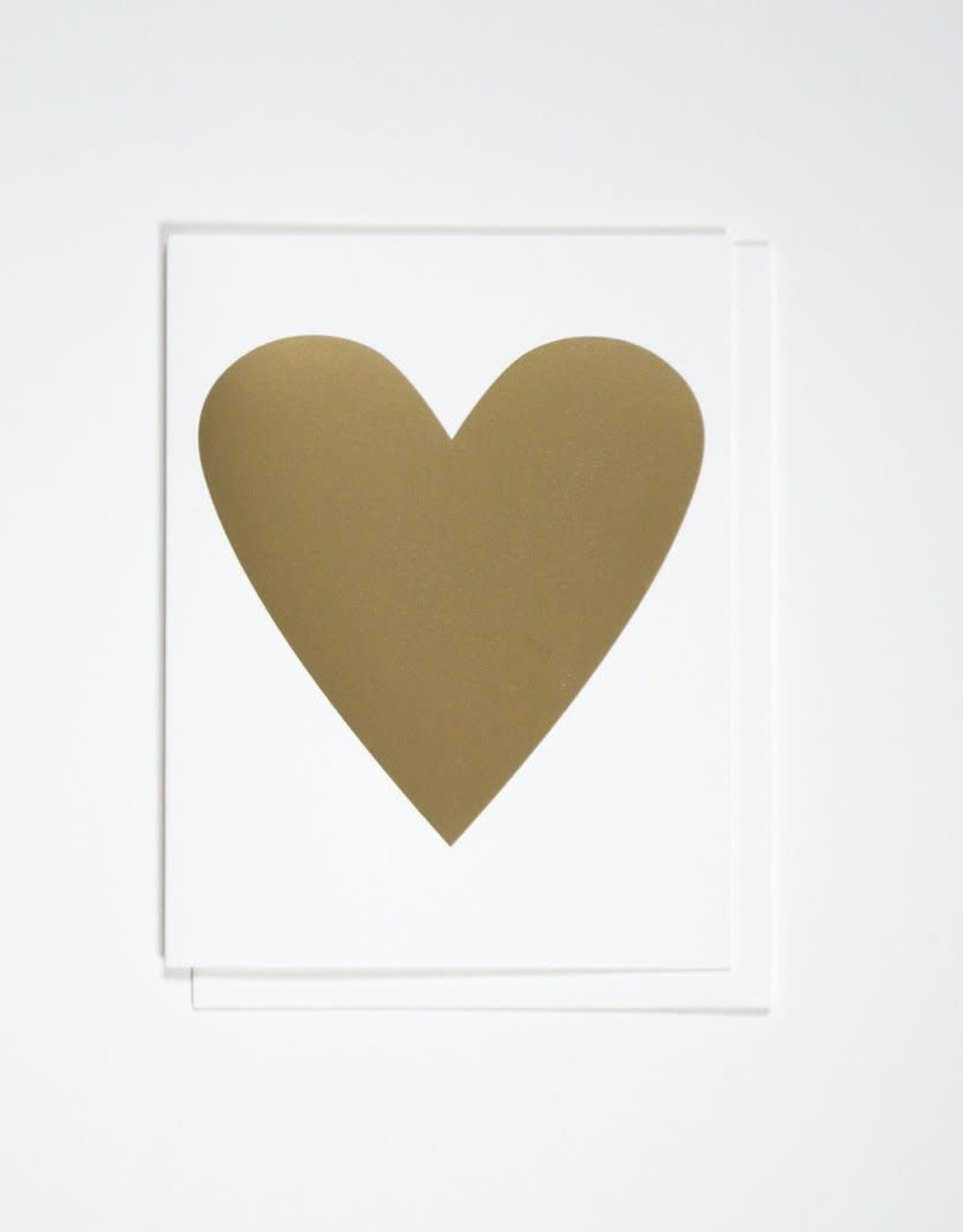 Banquet Atelier & Workshop 'Gold Foil Heart' Note Card