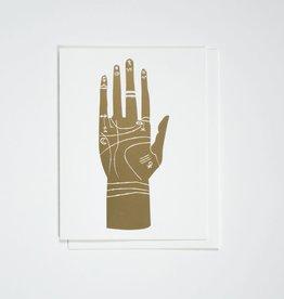 Banquet Atelier & Workshop Gold Foil Palmistry Hand - Note Card