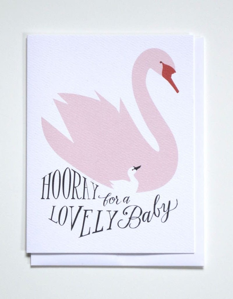 Banquet Atelier & Workshop Cygnet and Swan Baby - Note Card