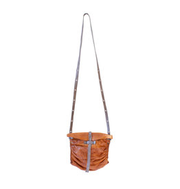 Engso Hand Crafted Small, Gathered Crossbody - Tan