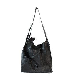 Engso Hand Crafted Large, Folded One-Piece Bag - Black + Black