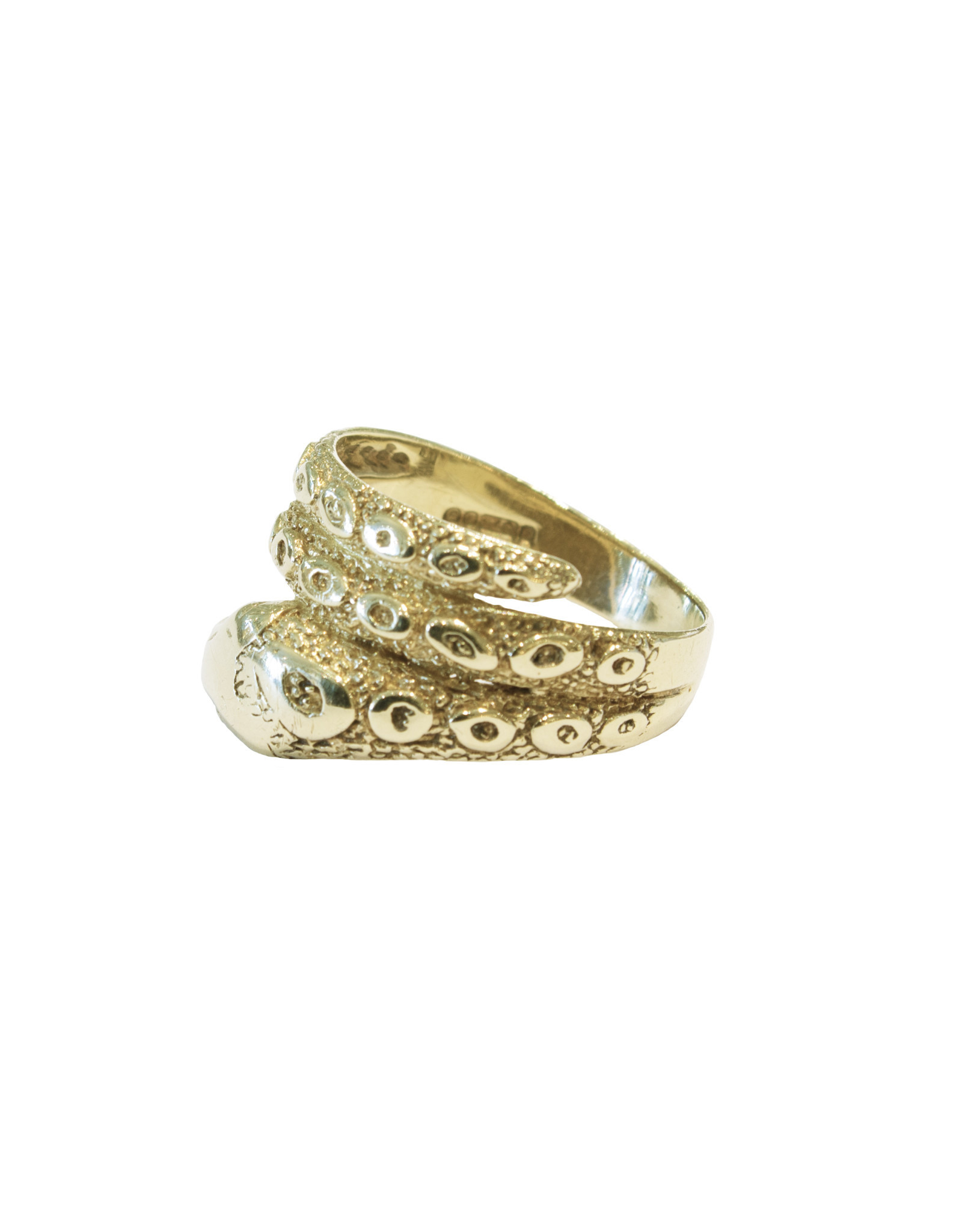 Antique 9 Ct. Gold Snake Ring - Size 10 (~1900)