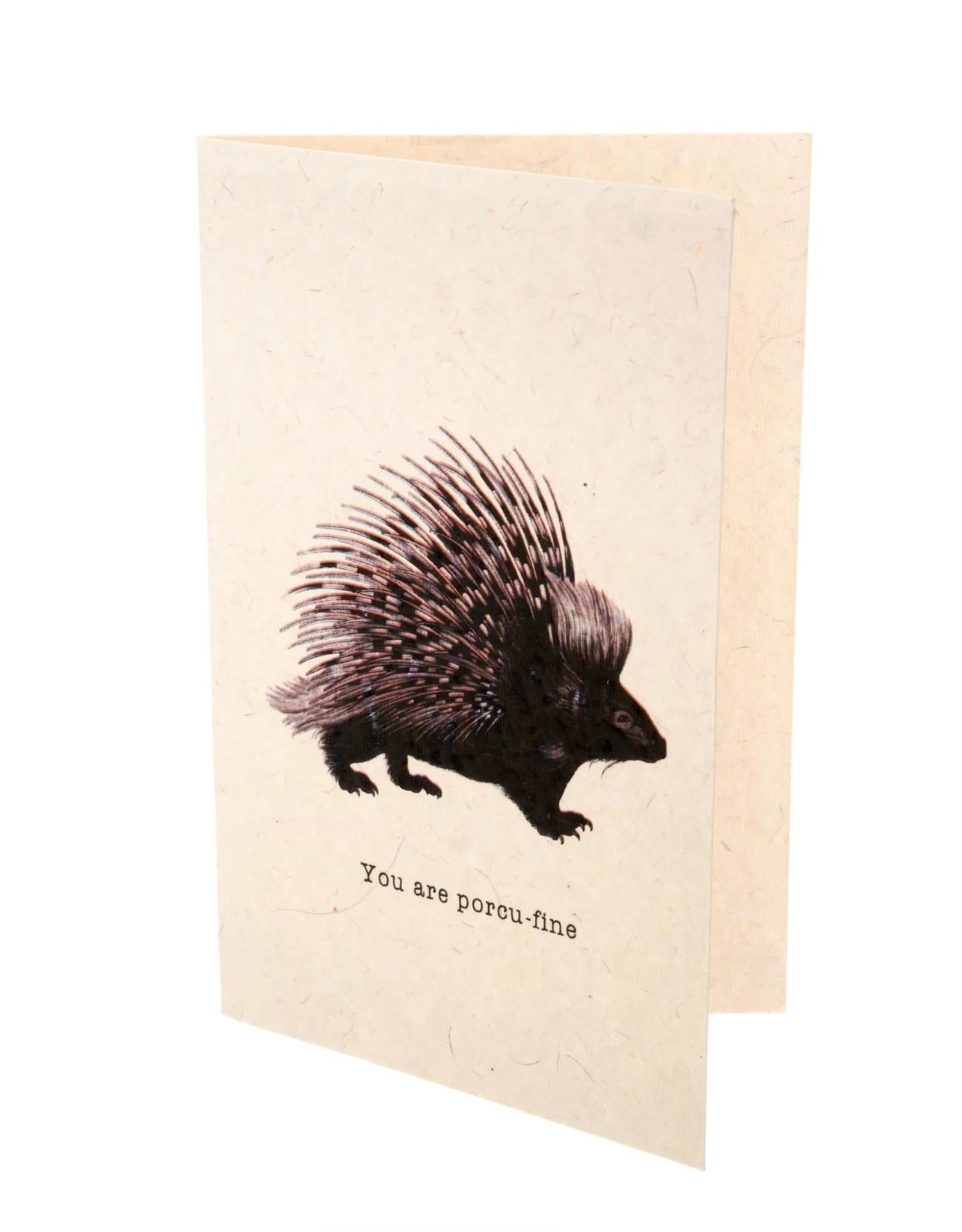 """""""Porcu-Fine"""" Card"""