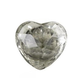 Vintage Glass Knob - Heart