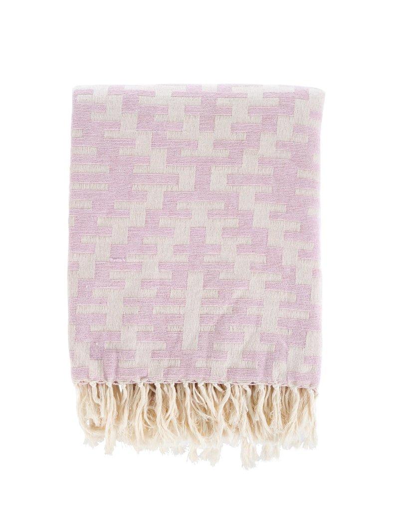 Nola Woven Throw - Pink