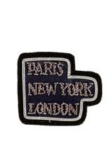 """Paris NY London"" Patch Pin"