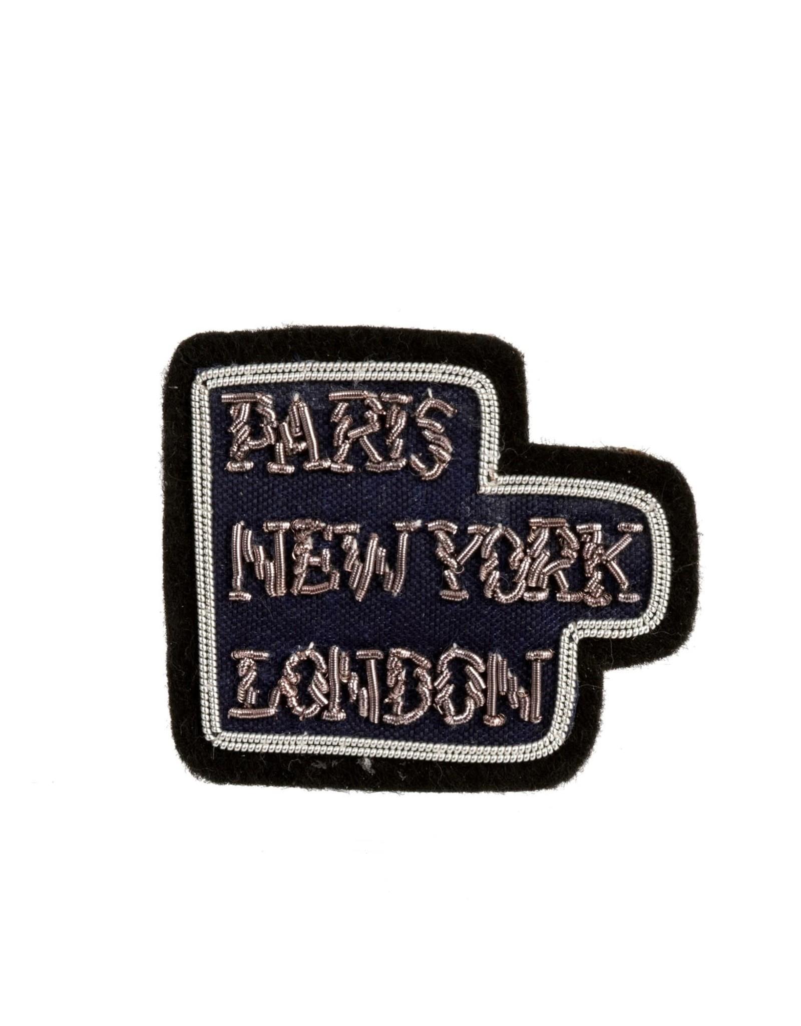 "Indaba ""Paris NY London"" Patch Pin"