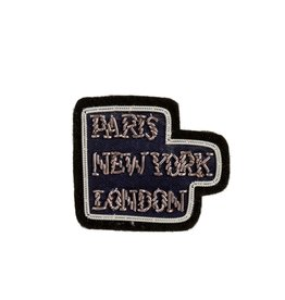 """Paris NY London"" Patch Pin"