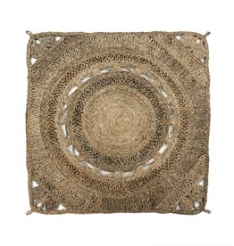 Saskia Braided Jute Rug - Light Grey