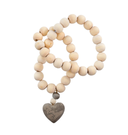 Indaba Heart Prayer Beads - Small