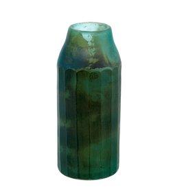 Indaba Mara Matte Vase - Turquoise