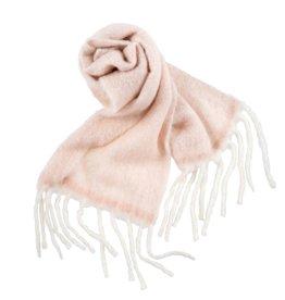 Fringed Blanket Scarf - Pink