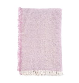 Brushed Wool Throw - Pink
