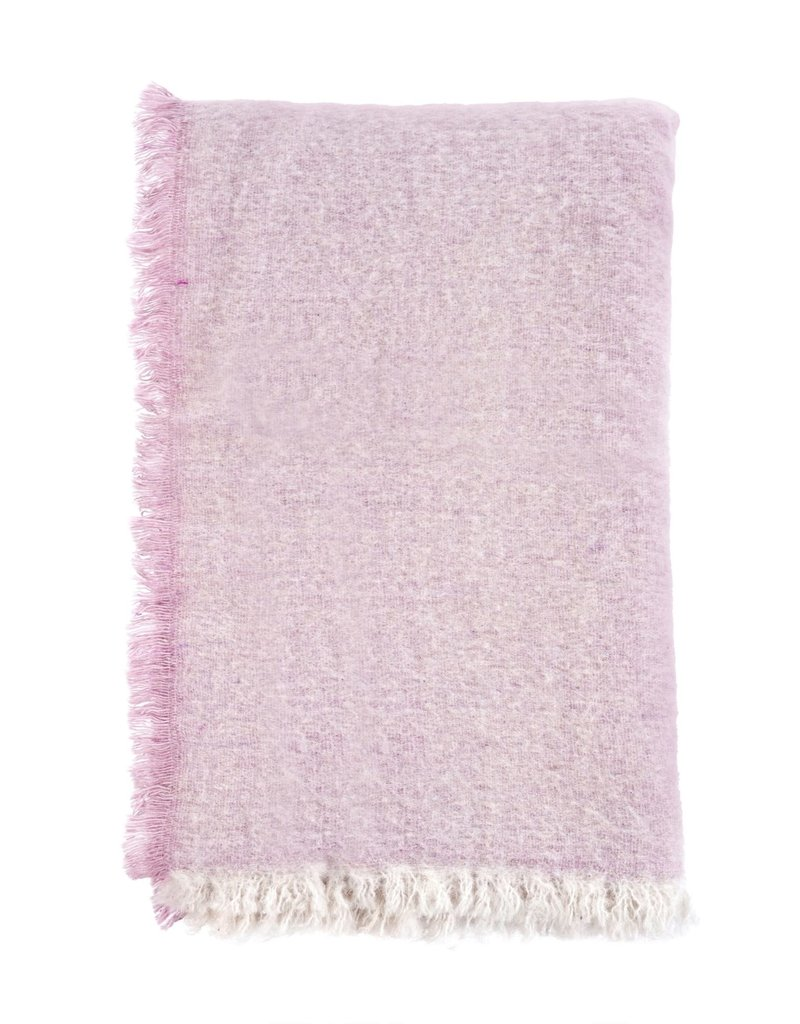 Brushed Wool Throw - Pink