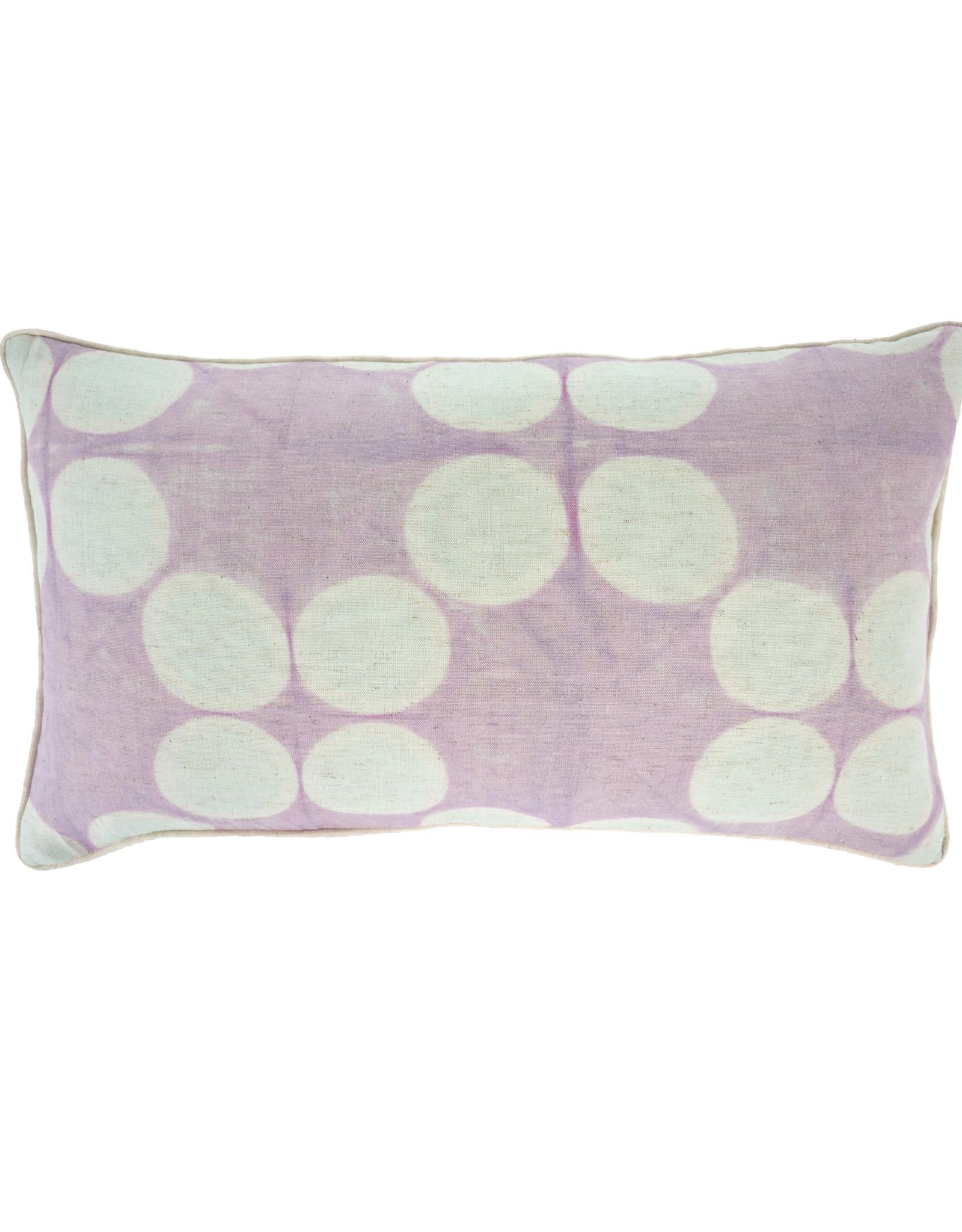 Indaba Tye Dye Pillow - Wisteria