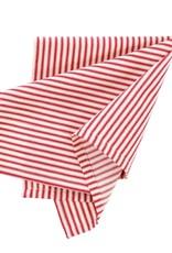 Indaba Red Ticking Napkins - Set of 4