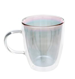 Double Wall Glass Cup - Grey