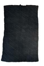 Etnik Halicilik Vintage Handwoven Anatolian Kilim Rug - Indigo/Black