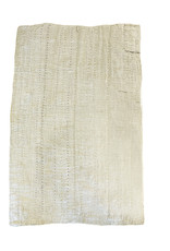 Etnik Halicilik Vintage Handwoven Anatolian Kilim Rug - Sand + Multicolor Stitch