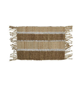 Langdon Ltd. Jute Stripe Mat - Silver