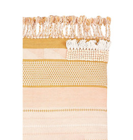 Langdon Ltd. Fringe Rug - Peach + Blush + Tan