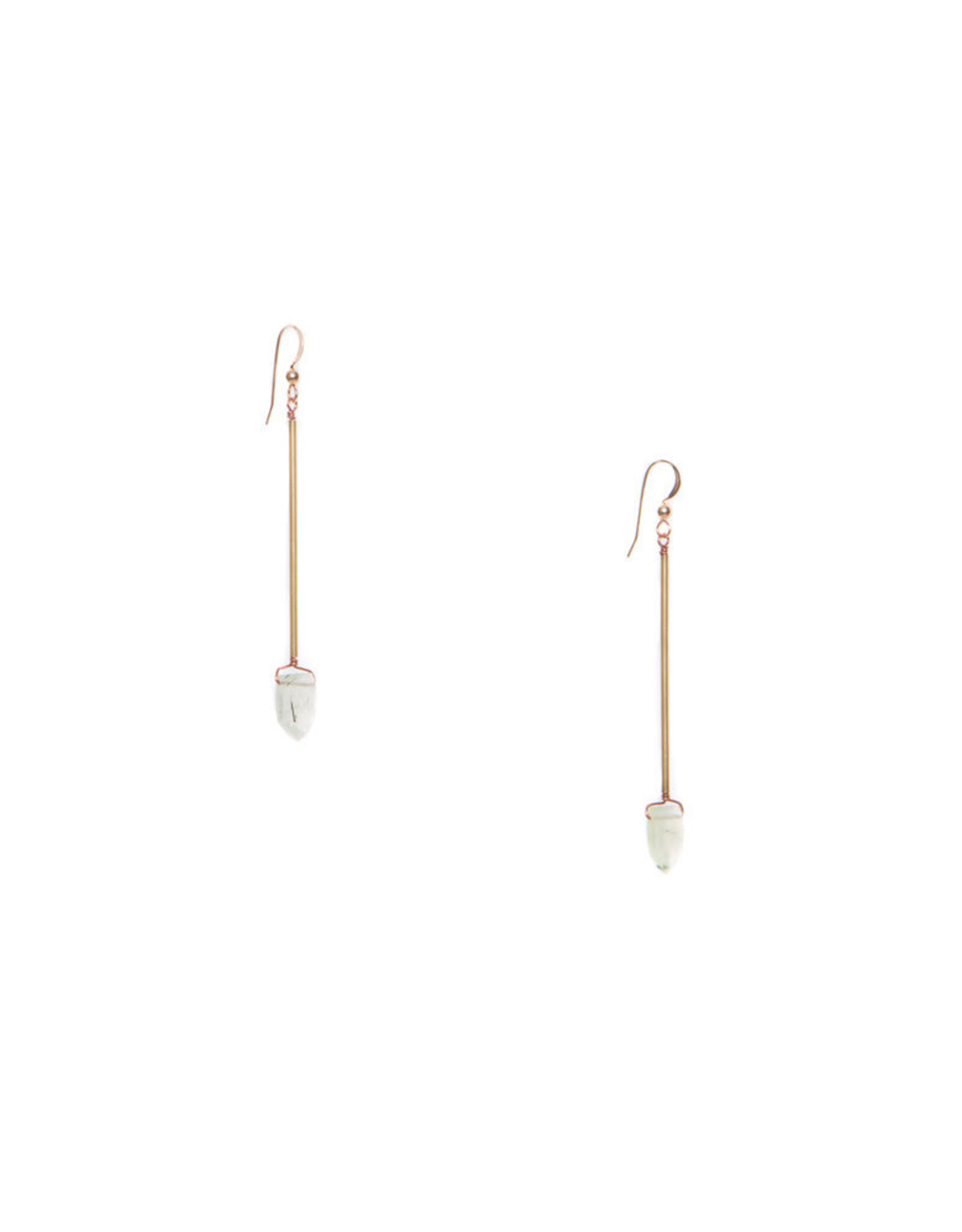 Hailey Gerrits Designs Reed Earrings - Prehnite