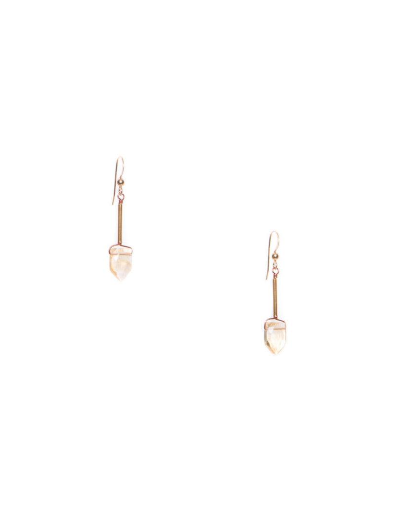Hailey Gerrits Designs Fern Earrings - Citrine