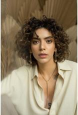 Hailey Gerrits Designs Fern Earrings - Rose Quartz