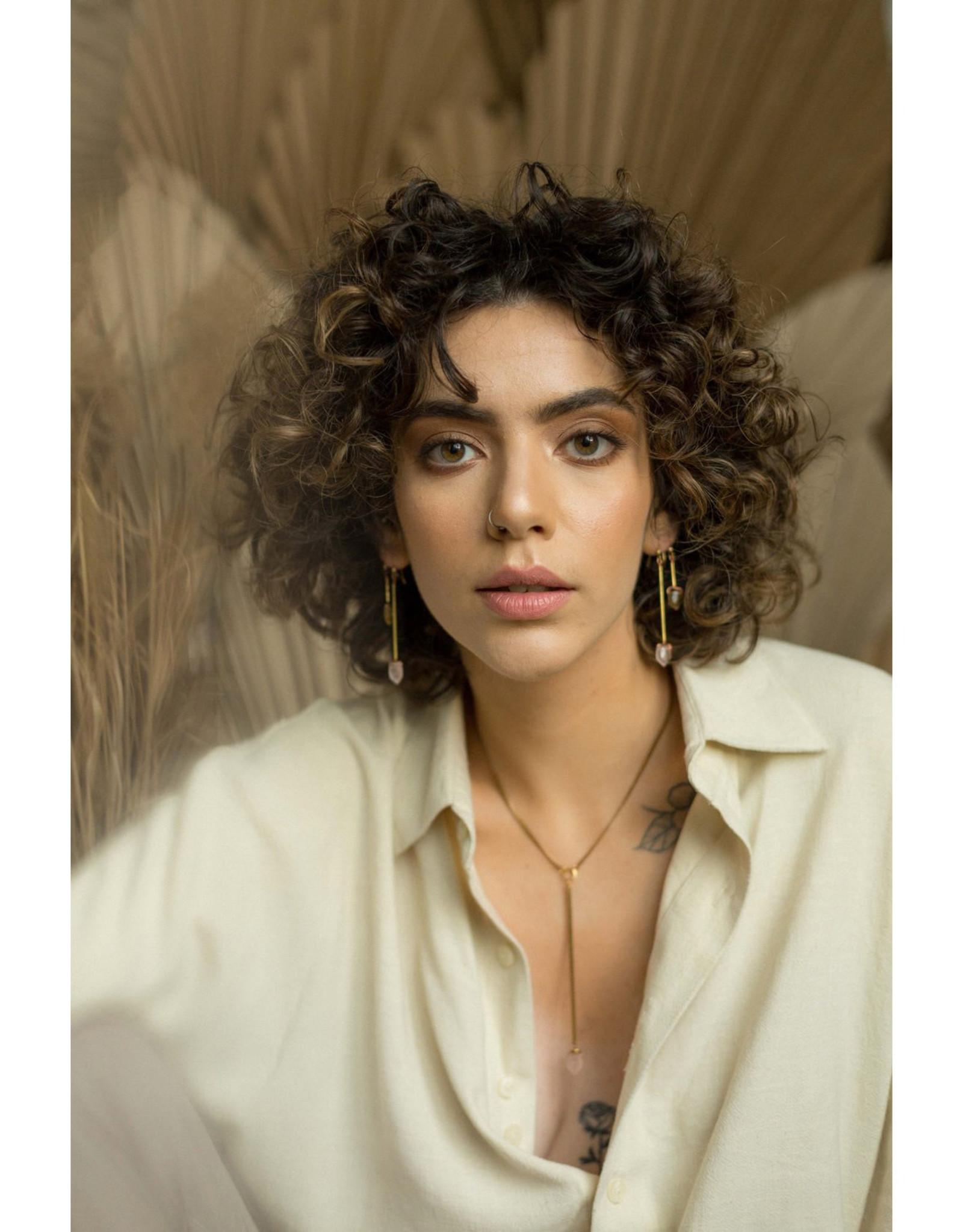 Hailey Gerrits Designs Fern Earrings - Labradorite