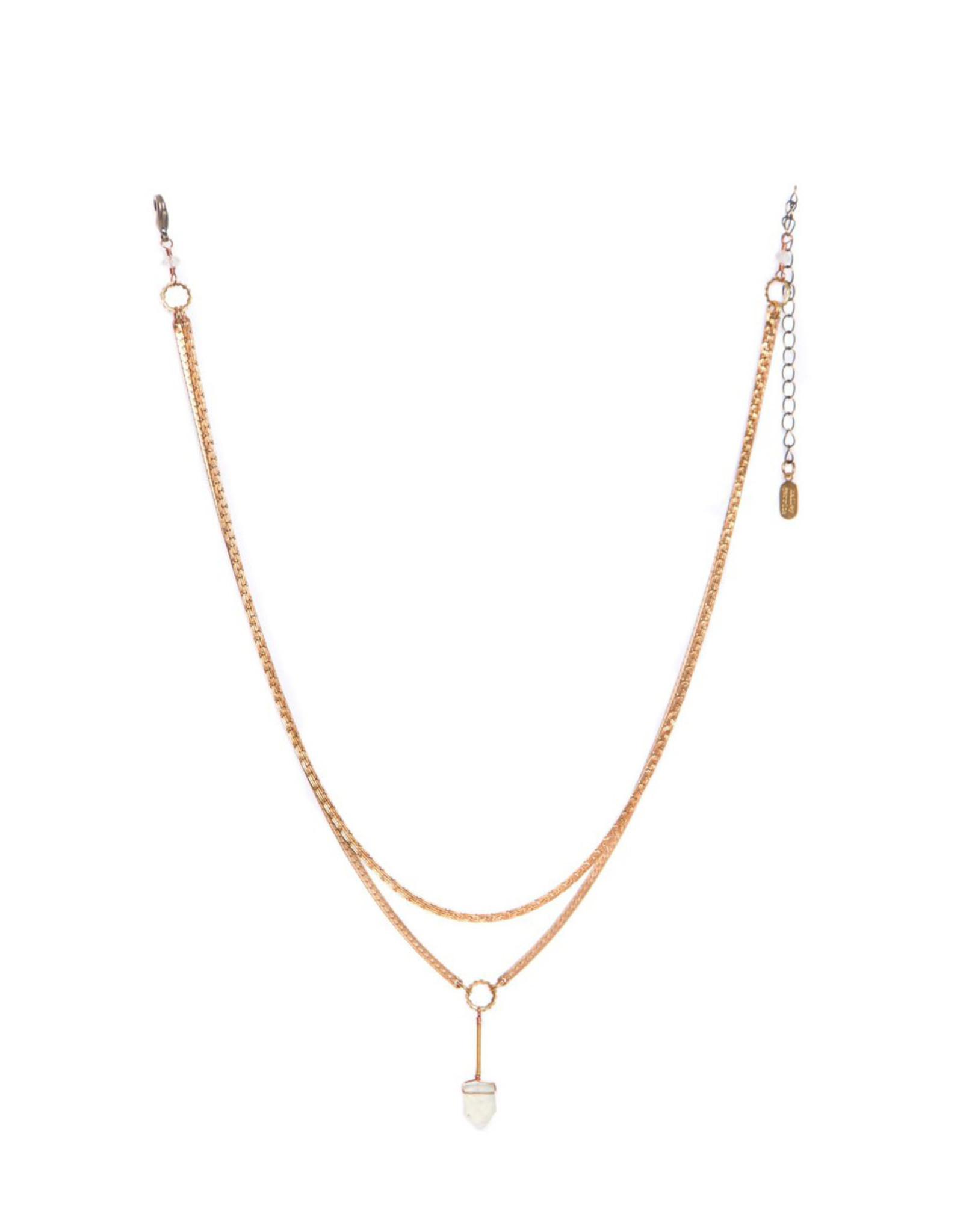 Hailey Gerrits Designs Fern Necklace - Prehnite