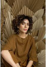 Hailey Gerrits Designs Fern Necklace - Rose Quartz