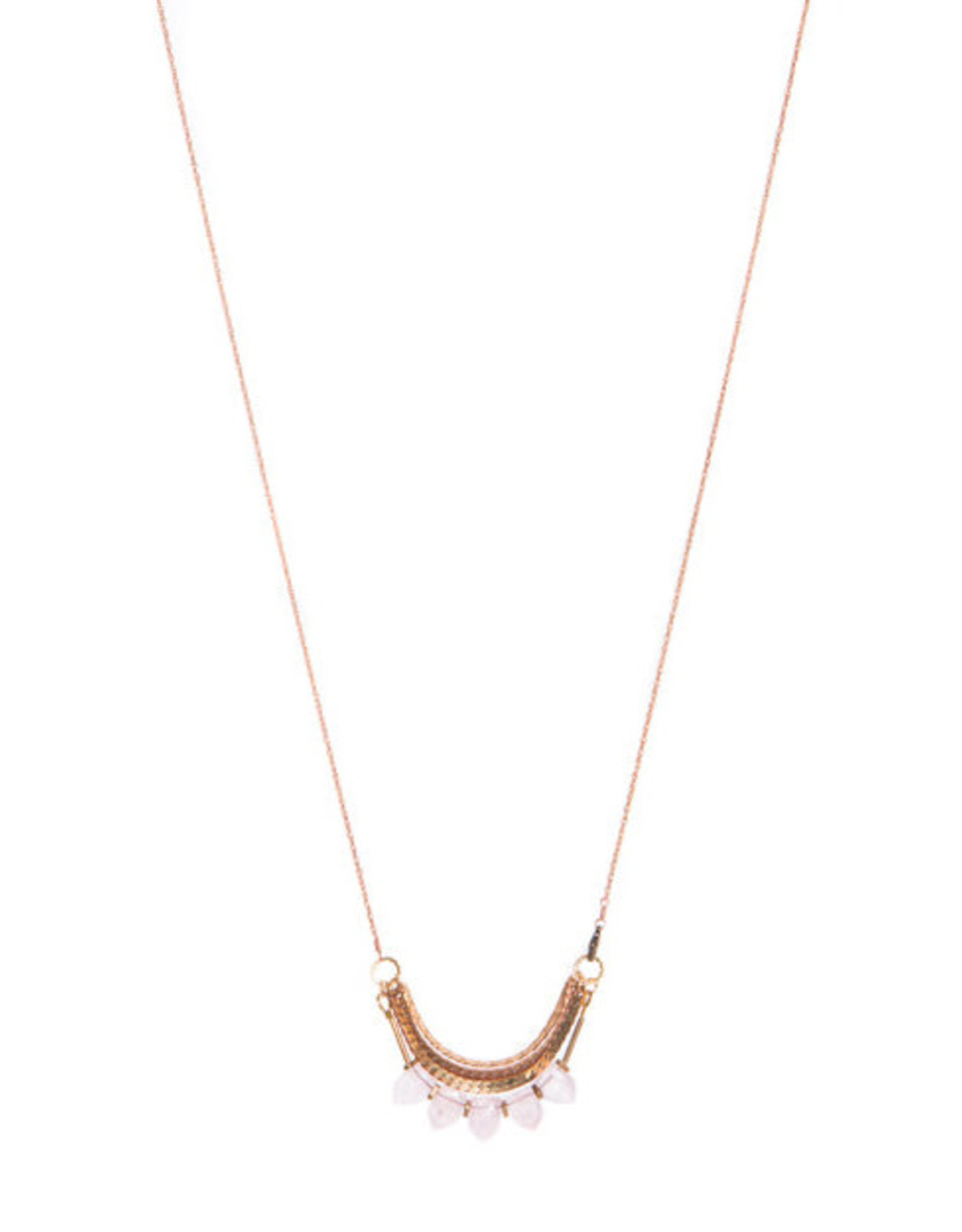Hailey Gerrits Designs Avena Necklace - Rose Quartz
