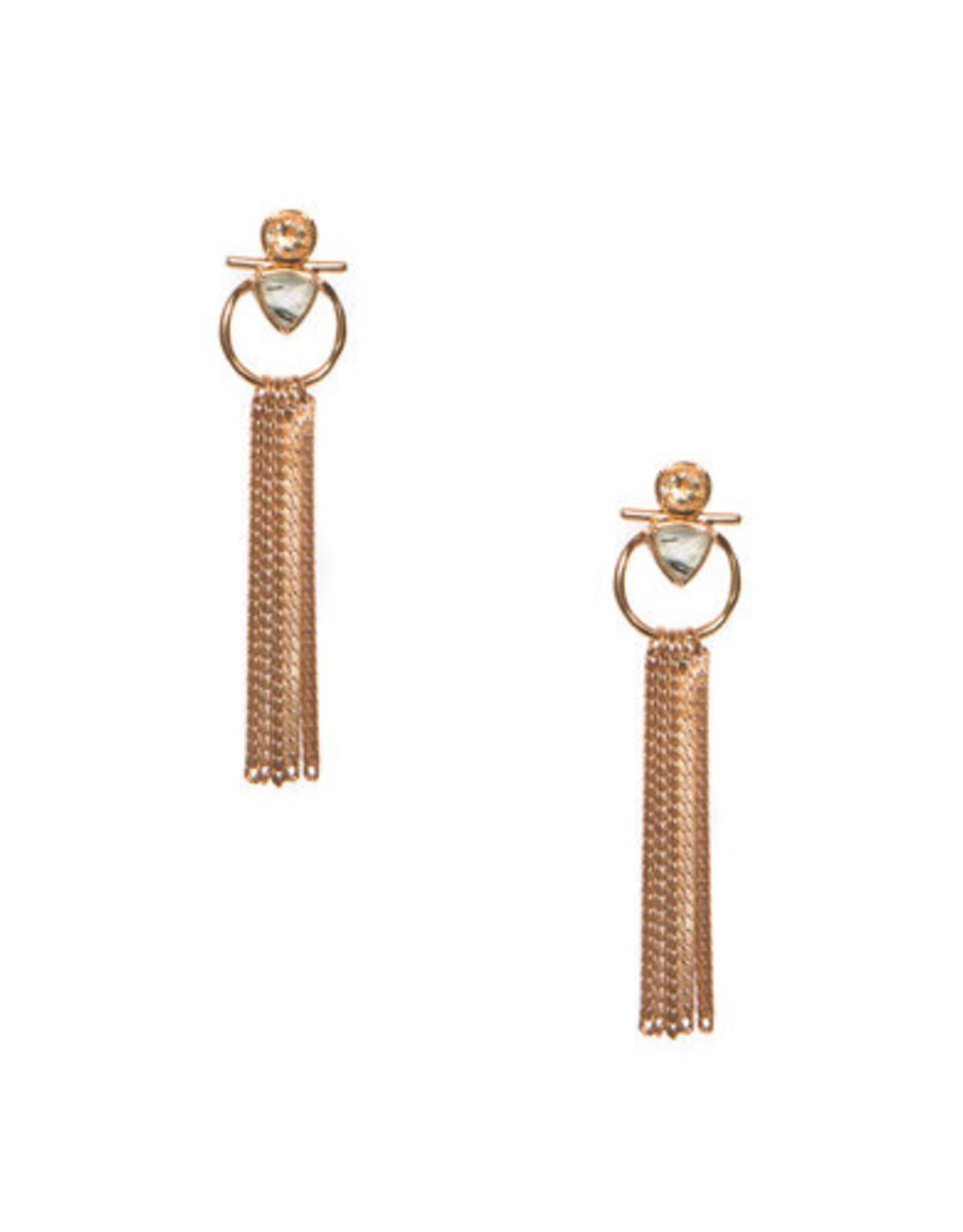 Hailey Gerrits Designs Caspia Earrings - Prehnite
