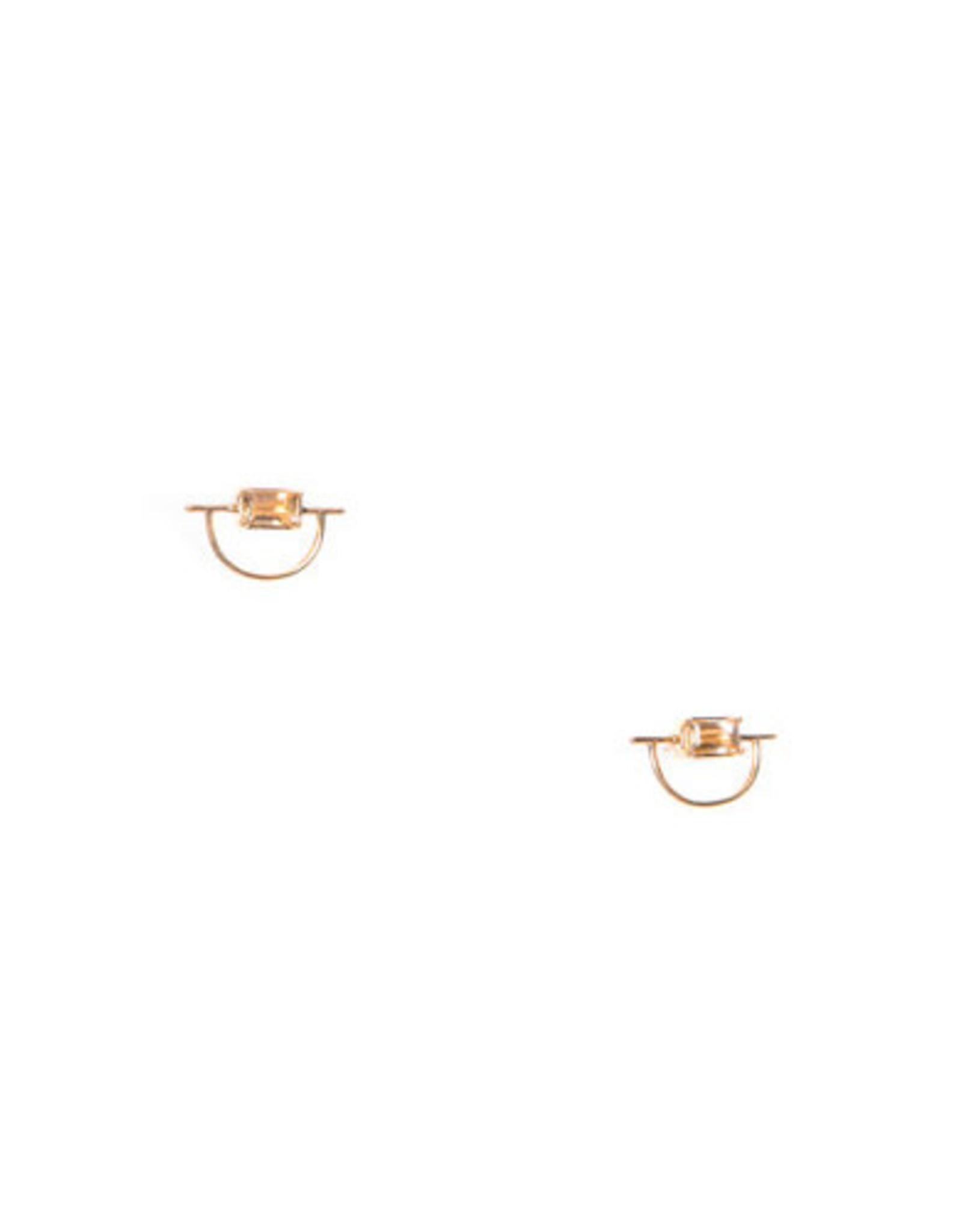 Hailey Gerrits Designs Horizon Earrings - Citrine