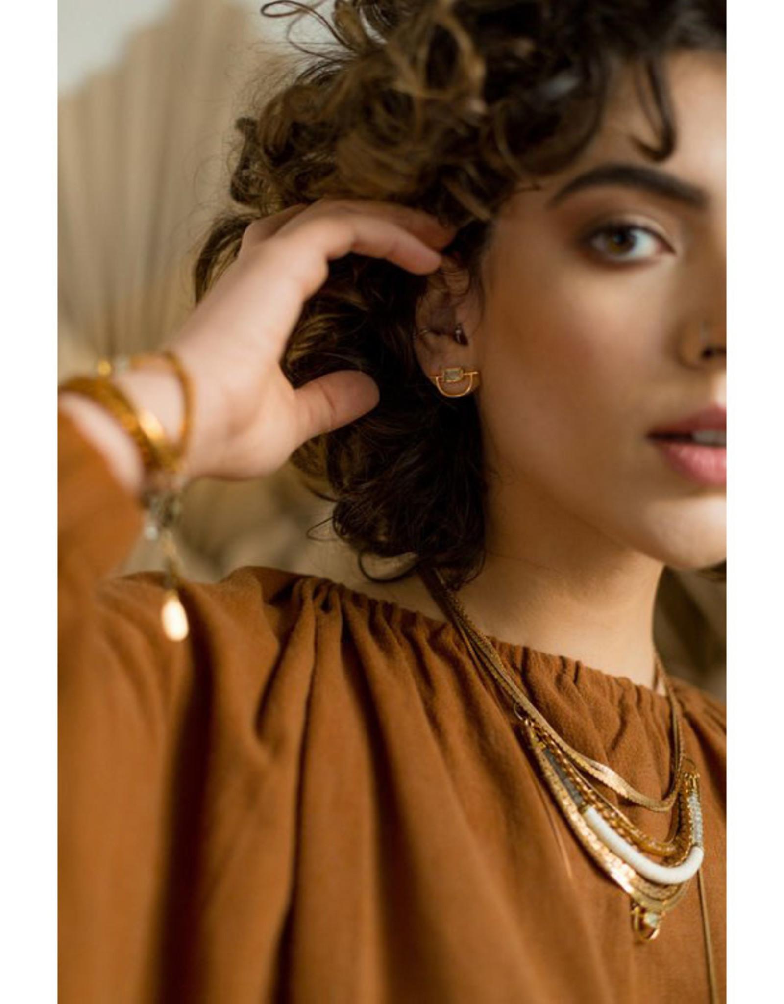 Hailey Gerrits Designs Horizon Earrings - Prehnite