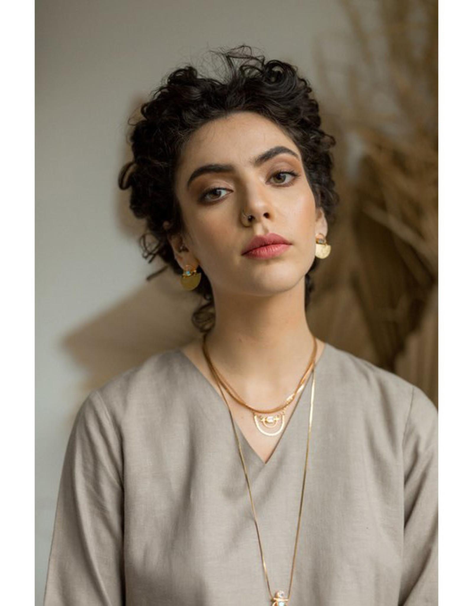 Hailey Gerrits Designs Horizon Necklace - Rose Quartz
