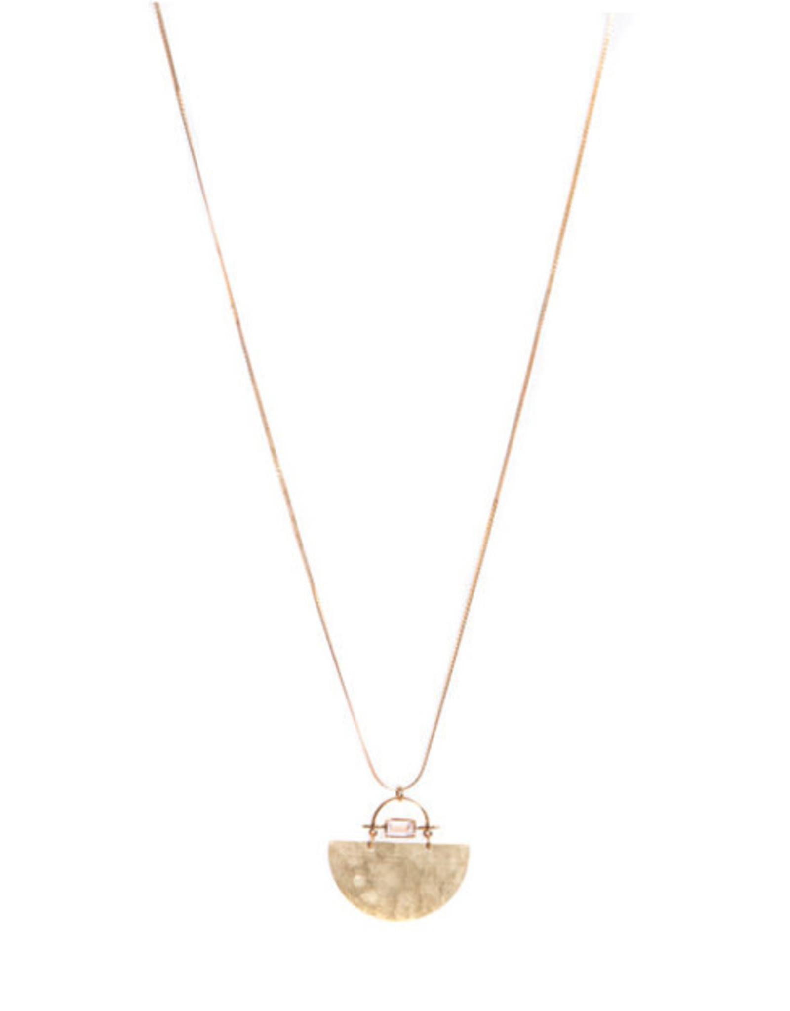 Hailey Gerrits Designs Meridian Necklace - Rose Quartz