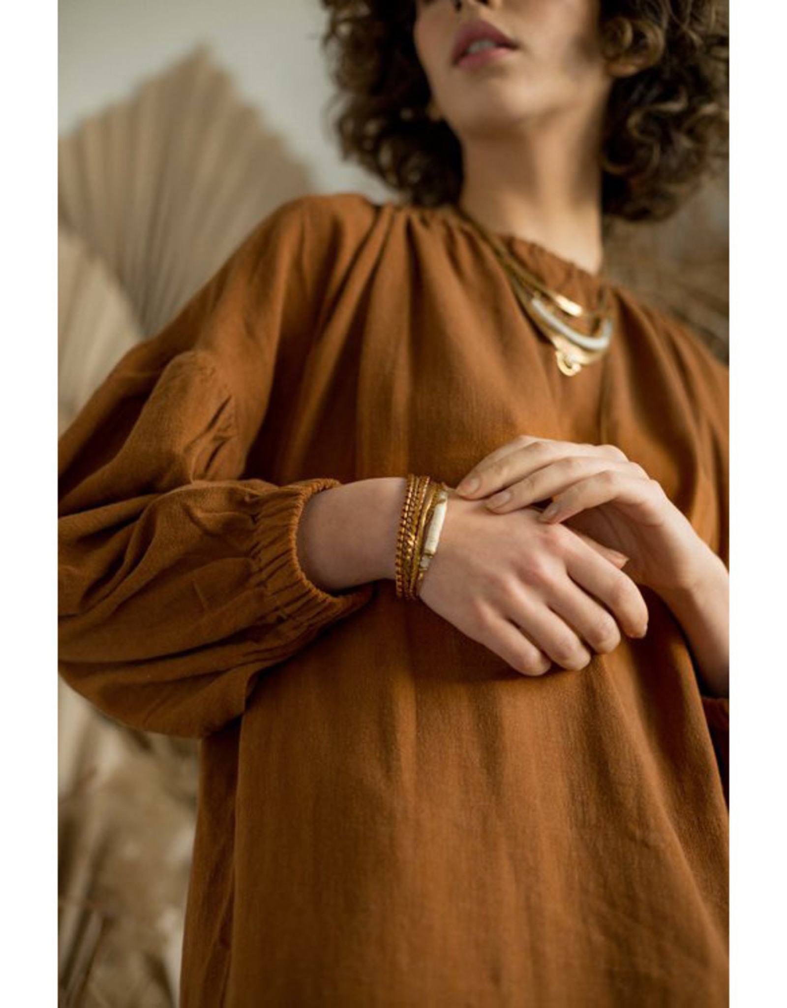 Hailey Gerrits Designs Pampas Bracelet - Prehnite