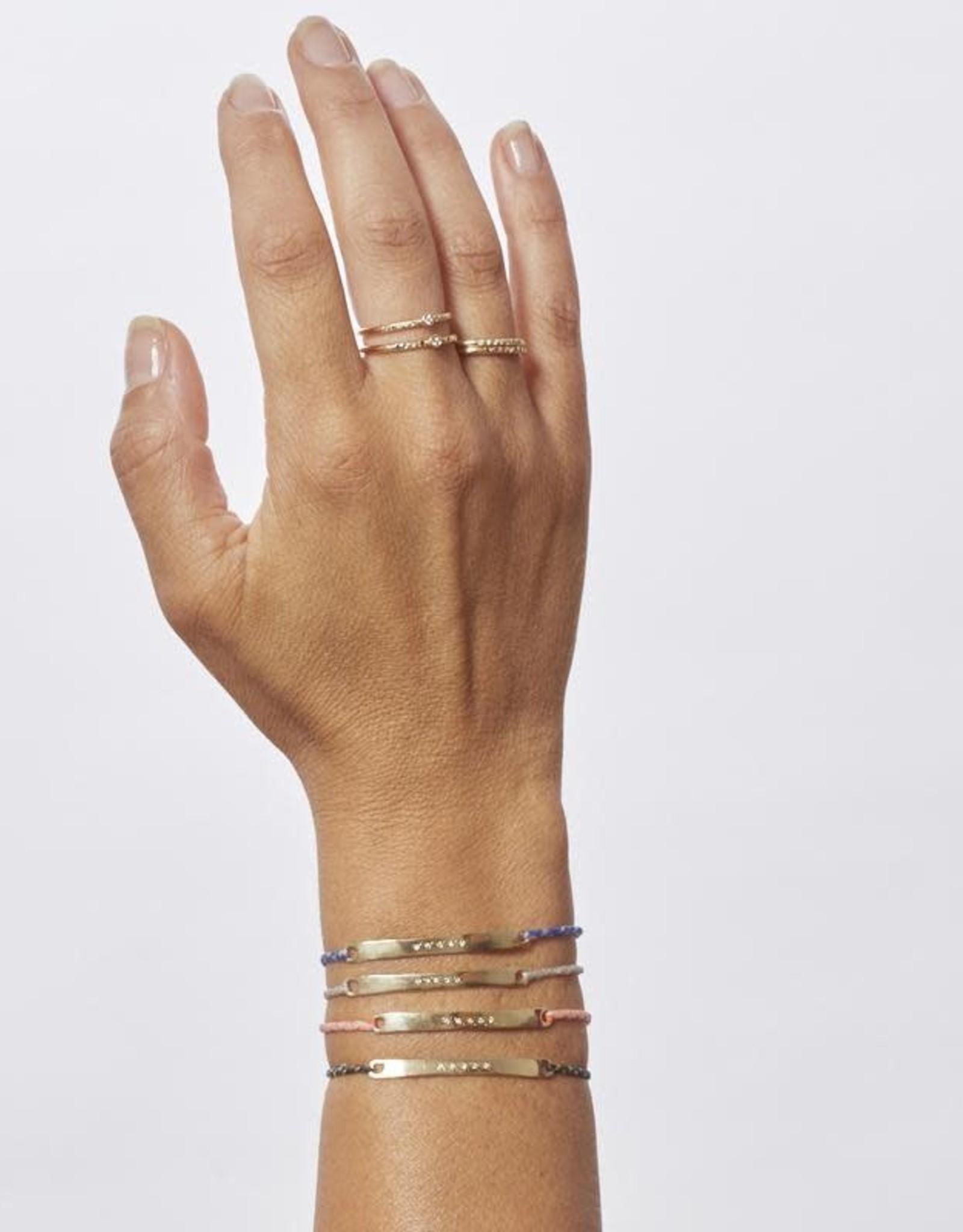 Scosha Signature Diamond ID Bracelet - White + Neon Pink