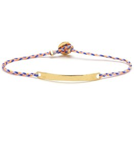 Scosha Signature ID Bracelet - Neon Peach + Royal Blue + White