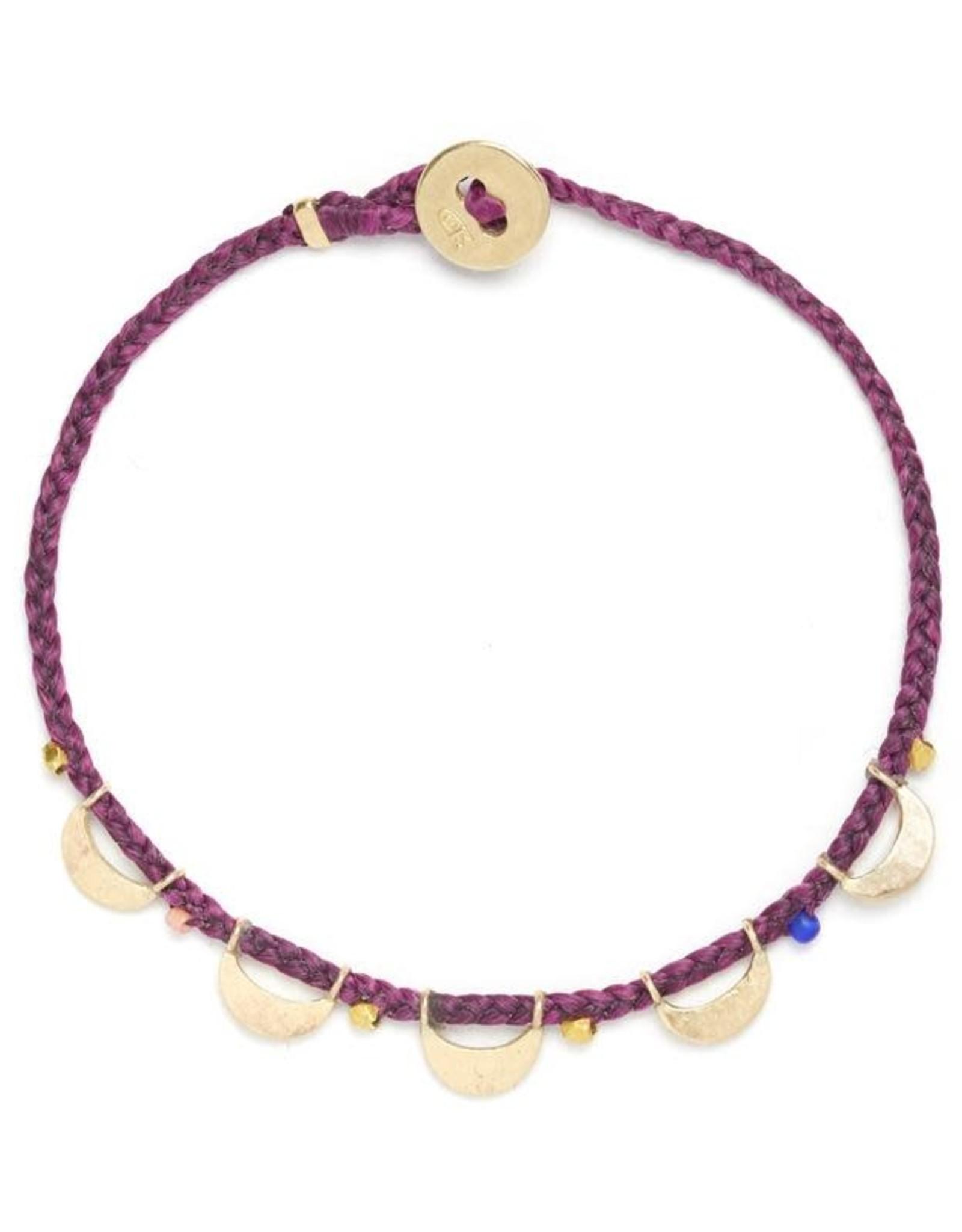 Scosha Luna Caravan Vermeil Bracelet - Plum