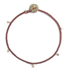 Scosha Fairy Bead Signature Brass Bracelet - Rust